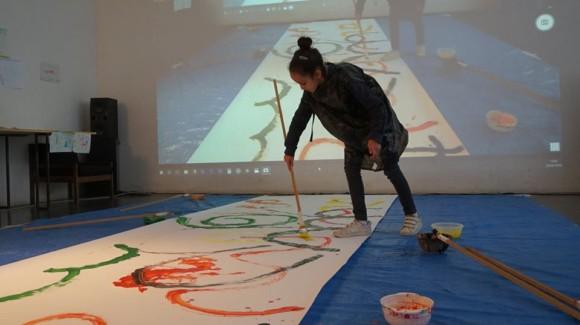 27.02.18 &#8211; 02.03.18 atelier dessin avec Morgan Patimo, <em>Dessins orchestrés</em>