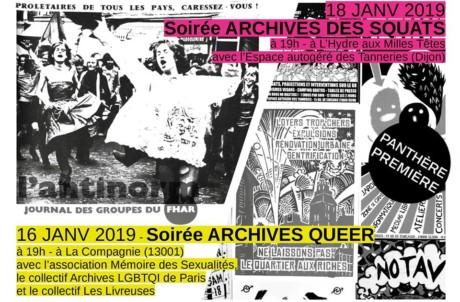 16.01.19 19h Lecture <em>Archives Queer – PANTHÈRE PREMIÈRE</em>