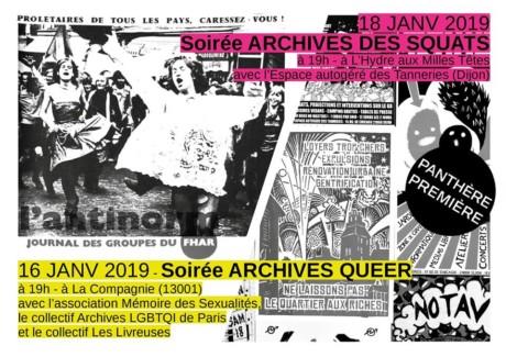 16.01.19 19h Soirée rencontres <em>Archives Queer – PANTHÈRE PREMIÈRE</em>
