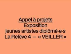 Appel à projets Exposition jeunes diplômé·e·s La Relève 4-VEILLER